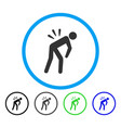 backache rounded icon vector image