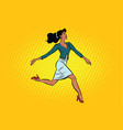 beautiful businesswoman elegantly runs vector image