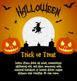 Cartoon halloween with text fields vector image