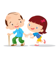 Cute girls aged care vector image