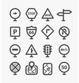 Different road signs set with rounded corners vector image
