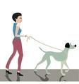 Dog across the street vector image