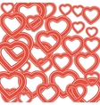 many red hearts valentines day background vector image
