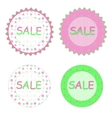 Spring sale labels vector image