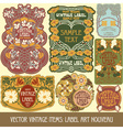 vintage items - label art nouveau vector image