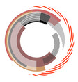 abstract circle design element vector image