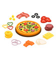 cooking pizza concept vector image