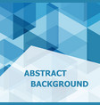 abstract blue hexagon template background vector image