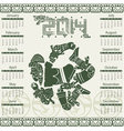 Calendar 2014 with mayan ornaments vector image vector image