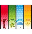 autumn vertical banner vector image vector image