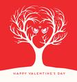 Happy Valentines Day Love birds vector image vector image