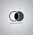 apocalypse moon logo template vector image