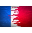 flag France in concept the blood flowing on the vector image