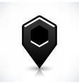 Blank map pin flat location icon hexagon sign vector image