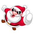 thumb up santa vector image
