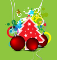 christmas celebration background design vector image