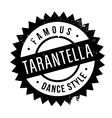Famous dance style Tarantella stamp vector image