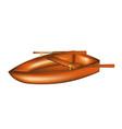 wooden rowing boat vector image
