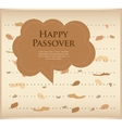 passover invitation matzoh jewish bread with vector image