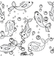 Coloring antistress with fish vector image