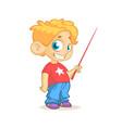 cartoon cute boy presenting vector image