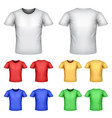 colorful male t-shirts set vector image