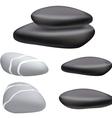 dark pebbles vector image
