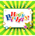 Happy birthday background or card vector image