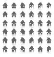 Icons house vector image