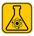 Laboratory glass button vector image