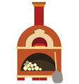 Pizza oven vector image