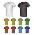plain male polo shirt template set vector image