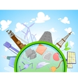 Type of renewable and not renewable energy vector image