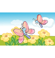 A flying butterflies vector image vector image