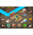 export trade logistics infographic icons vector image