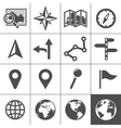 Cartography and topography icons vector image vector image