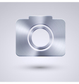full metal icon on blue background Eps10 vector image vector image