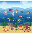 Underwater ocean life under the waves vector image