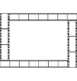 Film strip template border vector image