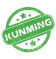 Kunming green stamp vector image