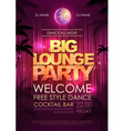 Disco poster big lounge party vector image