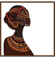 Profile of beautiful African woman vector image