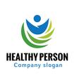 Healthy Person Design vector image
