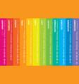 creative calendar 2019 rainbow design vector image