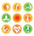 Fitness spa decorative icons vector image