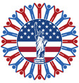 icon with flag of United States of America vector image