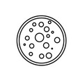 laboratory petri dish icon vector image