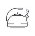 metal kettle line icon sign vector image