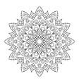 roumd ornament for boutique flower shop business vector image