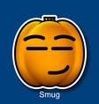 Smug vector image
